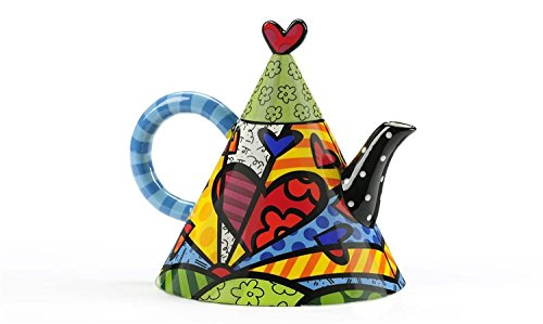 Romero Britto Ceramic 55oz Teapot, A New Day