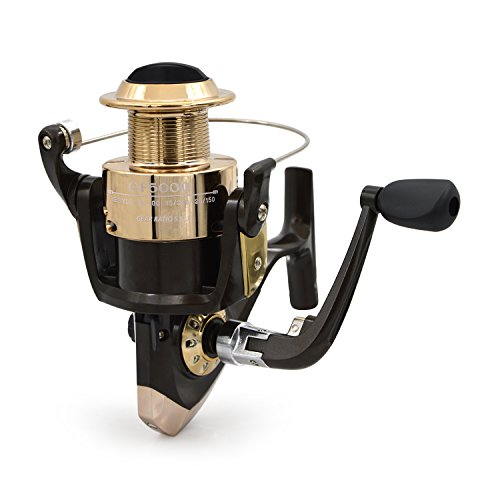 Fishing Reel, Professional Fishing Tackle Ball Bearing Fishing Gear Baitcast Reels Series of GF Round Rod Spinning Fishing Reels with Folding Handle for Anglers in Silver (Professional Spinning Reel)