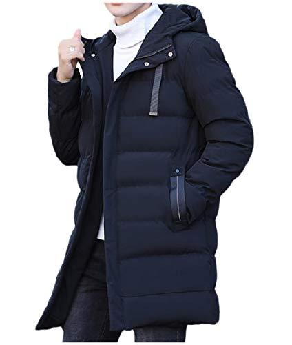 Howme-Men Brumal with Zips Pocket Hoodie Down Puffer Warm Parka Jacket Black