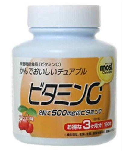 オリヒロ MOSTチュアブル ビタミンC 180粒 24個 B07B9RG2RR