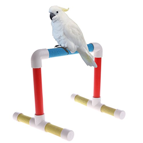 NNDA CO Pet Bird Paw Grinding Stand Perches Cage Training Chew Toys For Parrot Budgie,Wooden,Matte,1Pc