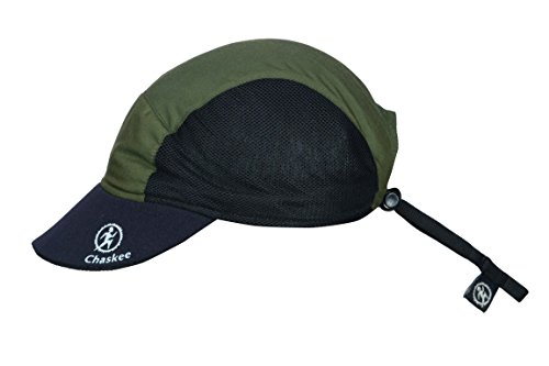 (Chaskee Marathon Sport Mesh Solid Microfiber Visor Hat (Olive))