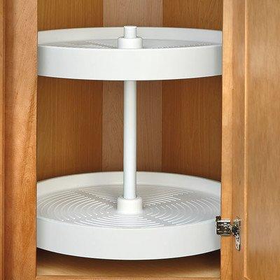 Rev-A-Shelf 24 in White Polymer Full Circle Lazy Susans 2-Shelf,