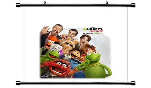 Muppets Most Wanted Movie Poster Fabric Wall Scroll