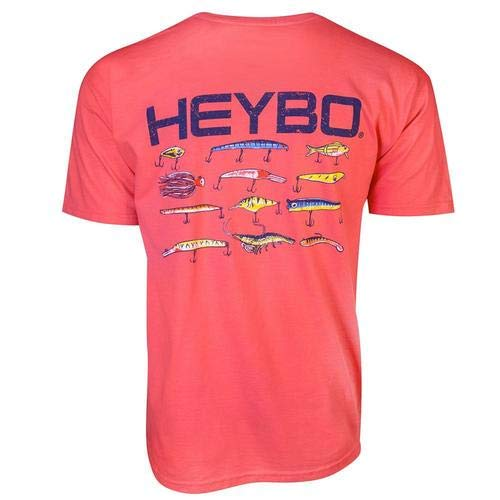 Heybo Lures Coral Adult Short Sleeve T-Shirt-xl