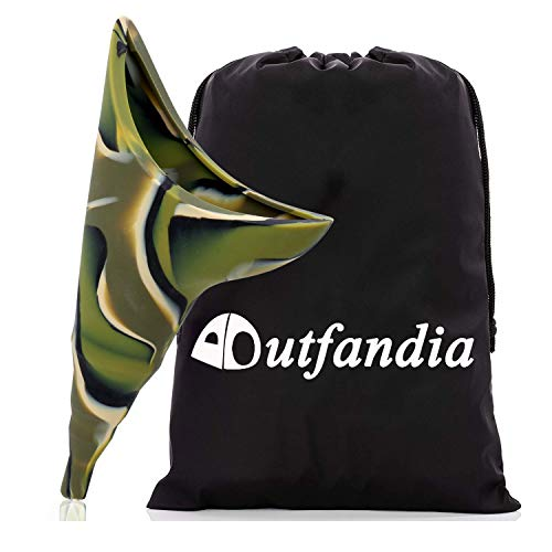 OUTFANDIA Female Urination Device - Foolproof Urinal Allows Women to Pee Standing Up - No Leak, No Spill Womens Pee Funnel - Flexible, Discreet for Camping & Festival - w/Handy Pouch.