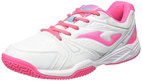 Joma Match Junior 602, Zapatillas de Deporte para Niñas Blanco / Rosa