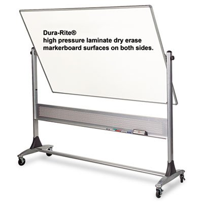 Best-Rite Platinum Mobile Reversible Whiteboard Easel, 4 x 6 Feet Panel Size, Dura-Rite HPL Markerboard Surface (669RG-HH) by Best-Rite