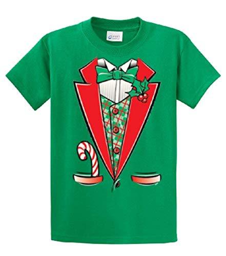 Tuxedo T-Shirt Funny Christmas Elf Tuxedo-kelly-4xl