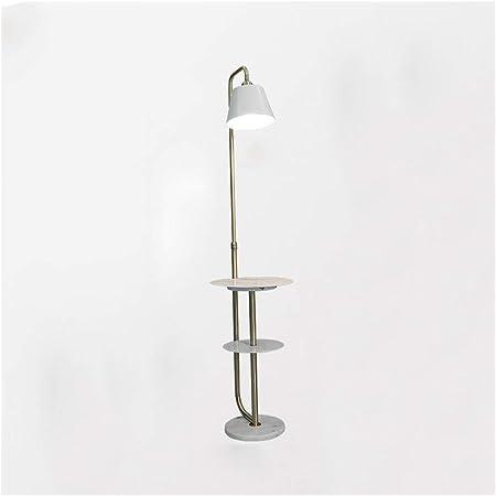 Lámparas de pie Lámpara de pie LED Mármol de imitación nórdico de Hierro Forjado con Mesa