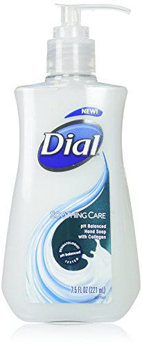Dial Liquid Hand Soap, Soothing Care, 7.5 Fluid Ounces, 12 (Dial Corporation Cleaner)