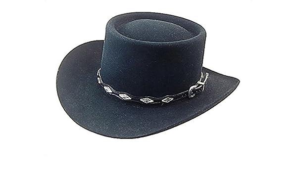 78acbb225baa3 Amazon.com  H1210 8X Fur Felt Gambler style Hat  Handmade