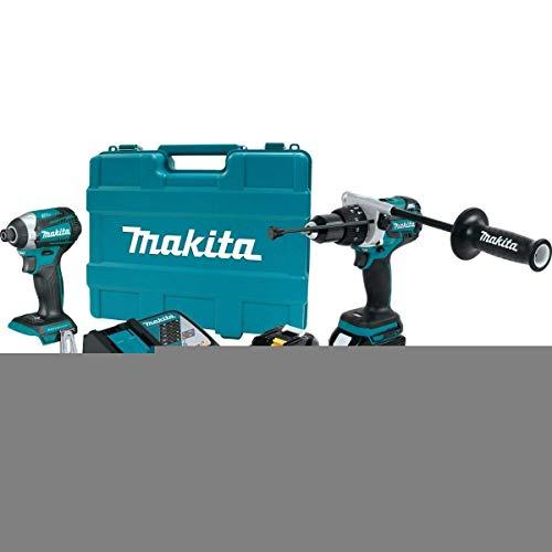 Makita XT268T 18V LXT Lithium-Ion Brushless Cordless 2-Pc. Combo Kit (5.0Ah) (Drill 18 Cordless Makita Set Volt)