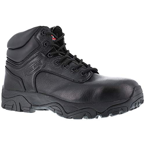 Iron Age Women's IA507 Trencher Fire and Safety Shoe, Black, 9.5 M US
