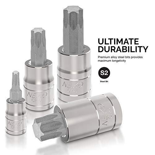 Neiko 10083A Master Torx Bit Socket and External Torx Socket Set   60-Piece Set   S2 and Cr-V Steel