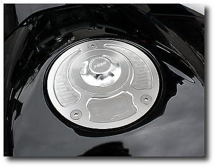 Tankdeckel Racing Aprilia RSV4 RF 15-17 Silber//Silber