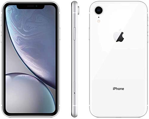 Apple iPhone XR, 64GB, White - Fully Unlocked (Renewed Premium)