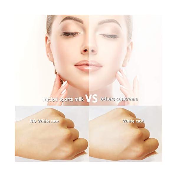 I+Recipe Triple Care Korean Sunscreen Sports Sun Milk SPF 50+PA+++, Whitening, Anti-wrinkle, UV protection triple function (30 ml / 1.01 fl.oz)
