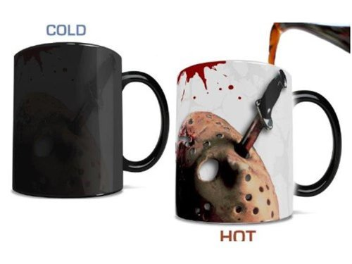 Ceramic Mug Crystal Lake Black Trend Setters Ltd Morphing Mugs Friday the 13th MMUG019