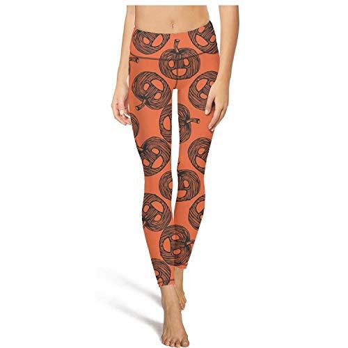 juiertj rt Long Running red Halloween Pumpkin Leggings Women Girls Fashion Sweatpants Pants for Yoga