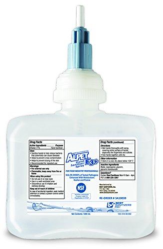 Best Sanitizers SA10039 Alpet E3 Plus Hand Sanitizer Spray, 1000mL Cartridge (Case of 6)