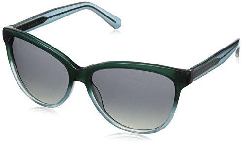 Marc by Marc Jacobs Women's MMJ411S Wayfarer Sunglasses, Green Aqua, 57 - Heart For Shaped Glasses Face Men