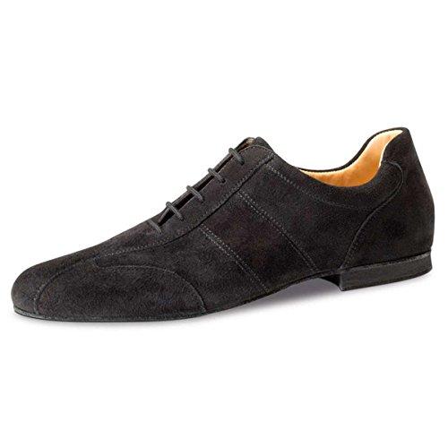 Werner Kern–Hombre Zapatos de baile 28045–ante negro–Super Flex Comfort