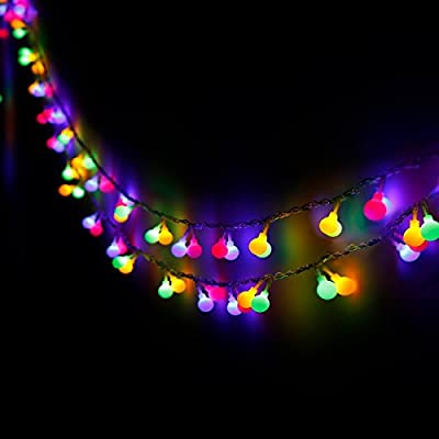 Globe String Lights, Decornova 13 feet 30 LEDs IP44 Waterproof Outdoor LED Fairy String Lights with Remote Controller, 8 Modes, 5 Colors