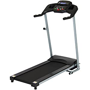 Best Choice Products 800W Portable Folding Electric Motorized Treadmill Machine w/ Rolling Wheels Black