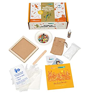 Fat Brain Toys Surprise Ride - Make a Traditional Mosaic Trivet Activity Kit Arts & Crafts for Ages 5 to 11: Toys & Games