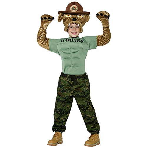 Child 7-10 - Deluxe Plush United States Marine Corps Mascot Costume for Children (Mascot Uniforms)