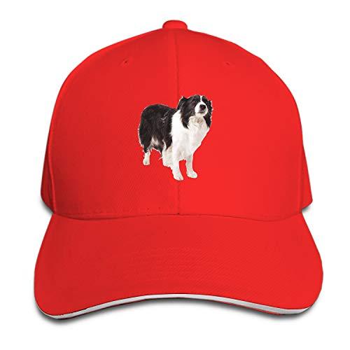 Peaked hat Border Collie Printed Sandwich Baseball Cap for Unisex Adjustable Hat