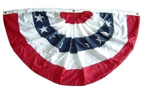 - Ant Enterprises 3x6 FT Double Sided Outdoor Poly/Cotton US Made American Flag Bunting Half Fan Best Garden Outdor Decor Polyester Material Flag Premium Vivid Color and UV Fade Resistant