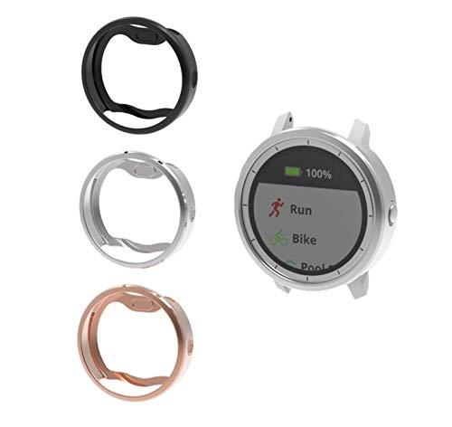 Case for Garmin Vivoactive 3 Music, Slim Plated Shock-Proof and  Shatter-Resistant Frame Protective Band Cover Case for Vivoactive 3 Music  Smartwatch,