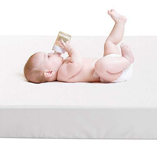 Crib Mattress Protector,BROLEX Baby Crib Mattress Cover,White Terry ,Safety Padded,Breathable,Ultra...