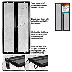 R-Zilla SRZ100011441 Fresh Air Screen Cover with Center Hinge for Pet Cages, 20-3/8 by 10-1/2-Inch, Black
