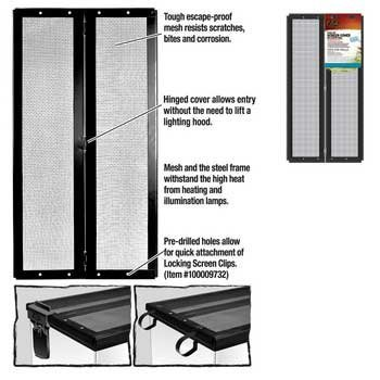 r-zilla-srz100011441-fresh-air-screen-cover-with-center-hinge-for-pet-cages-20-3-8-by-10-1-2-inch-bl