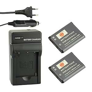 DSTE® 2x EN-EL19 Recargable Li-ion Batería + DC109E Kit de Cargador de Viaje para Nikon Coolpix S100 S2500 S2600 S2700 S2750 S3100 S3200 S3300 S3400 S3500 S4100 S4150 S4200 S4300 S4400 S5200 S6400 S6500 S6600 Cámara