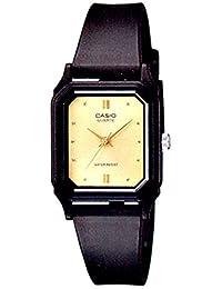 Casio Women's Core LQ142E-9A Black Satin Resin Quartz Watch