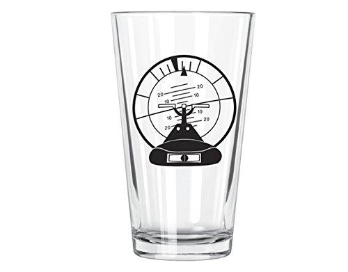 Corkology Altitude Indicator Pint Glass, Clear