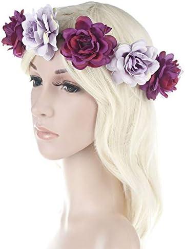 Topdo Topdo 1pcs Simulation de courroie de cheveux de couronne de couronne de couronne de fleurs faisant la d/écoration de f/ête de voyage Beige Diam/ètre 18cm