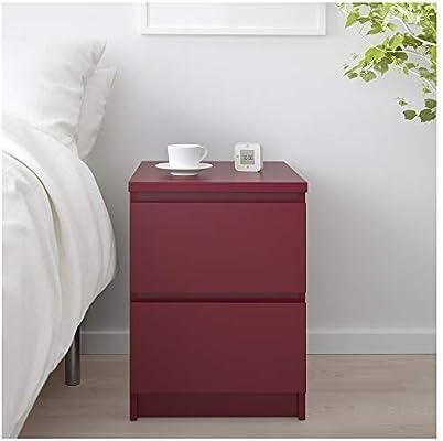 IKEA.. 304.018.93 Malm - Cajonera con 2 cajones, Color Rojo Oscuro ...