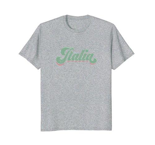 Mens Italy T-Shirt Vintage Italia Graphic Tee Retro 70s Italian Medium Heather (70s Italian)