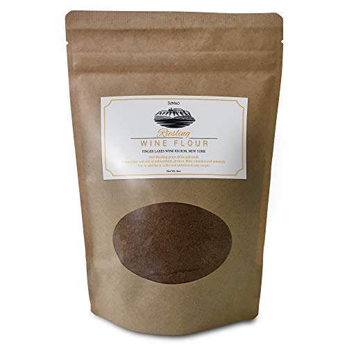 Riesling Wine Flour/Wine Powder made 100% from Grape Skins and Seeds grown in NY Wine Region- Gluten Free Flour Rich in Antioxidants, Protein & Fiber- Use to Add Flavor, Nutrition and Color
