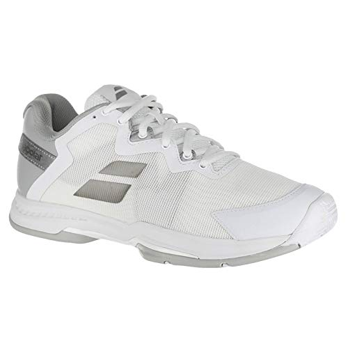 Babolat Women`s SFX 3 All Court Tennis Shoes White and Silver (7.5 - TennisExpress)