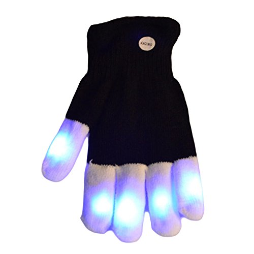 1 Pcs LED Gloves Party Light Show Gloves Lighting Gloves for Clubbing, Rave, Birthday, Edm, Disco, and Dubstep Party -