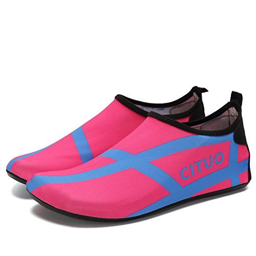 Men Surf Pool EQUICK Sole Barefoot Beach Exercise Aqua Lightweight pink Slip Shoes Water Socks 0 Anti Women p14qP6pr
