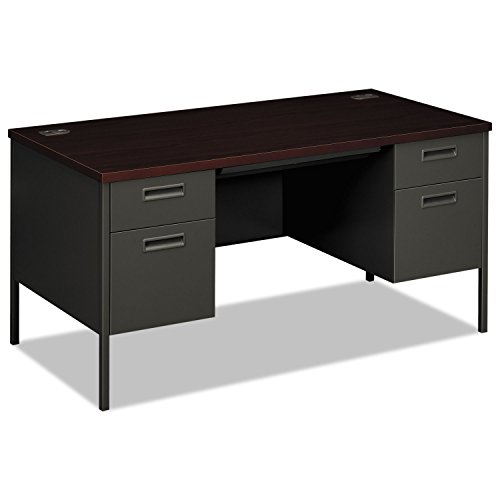 HON N.S HONP3262NS Metro Classic Double Pedestal Desk-2 Box 2 File Drawers, 60