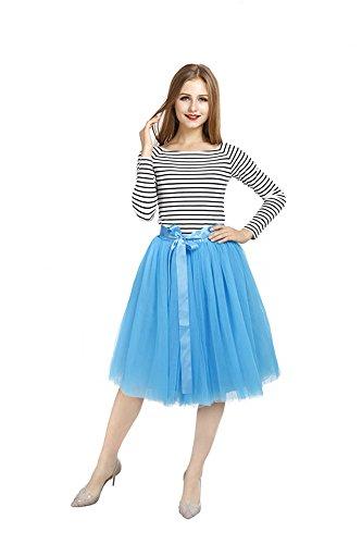 Per Balletti In Gonna Party Tulle Cintura Con Blu Petticoat Pulchram Strati Sottogonna Festa 7 Tutu 4AqnwF