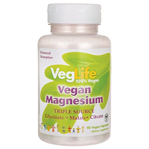 VegLife Magnesium Vegan Cap, 400 mg, 90 Count